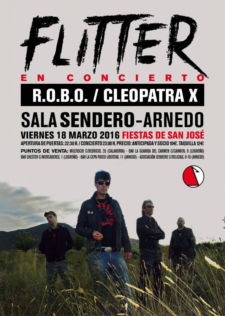 Cartel ARNEDO Sala Sendero FLITTER